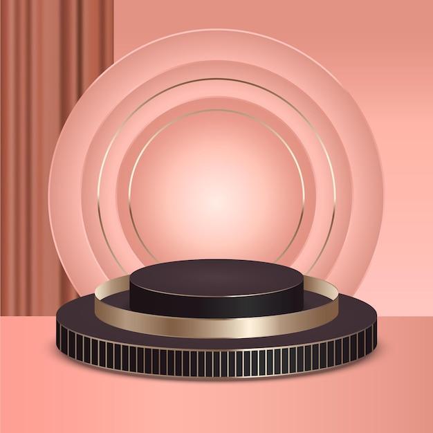 Realistyczne podium z biżuterią 3d