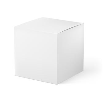 Realistyczne pojedyncze białe pudełko
