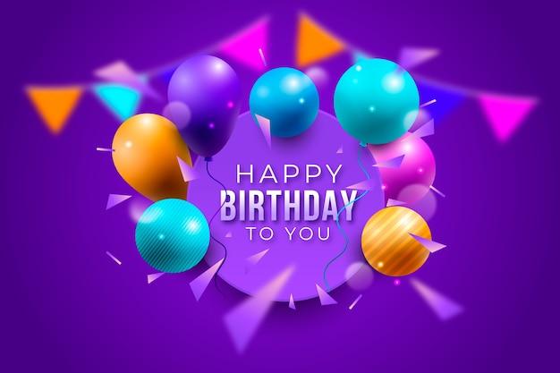 Realistyczne pozdrowienia tło urodziny