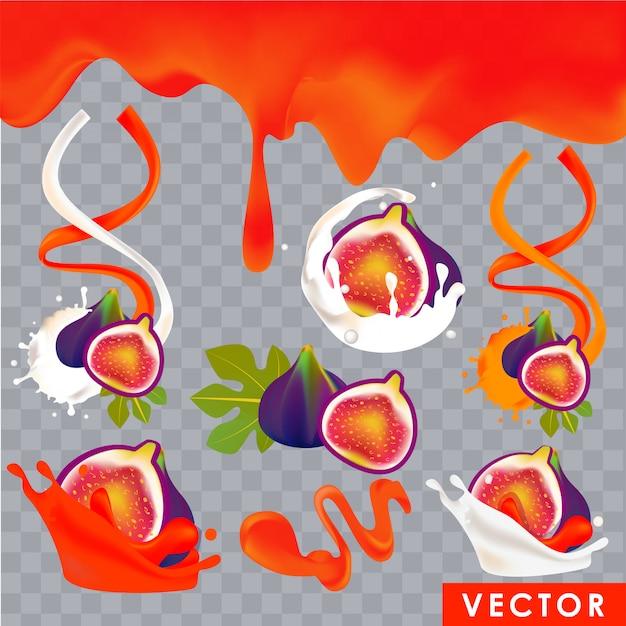 Realistyczne produkty o smaku figi