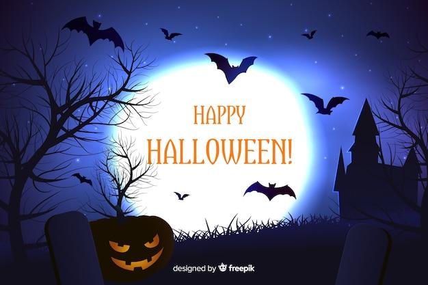 Realistyczne przerażające tło halloween