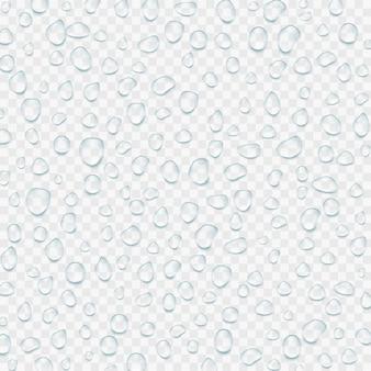 Realistyczne przezroczyste krople wody. ilustracja