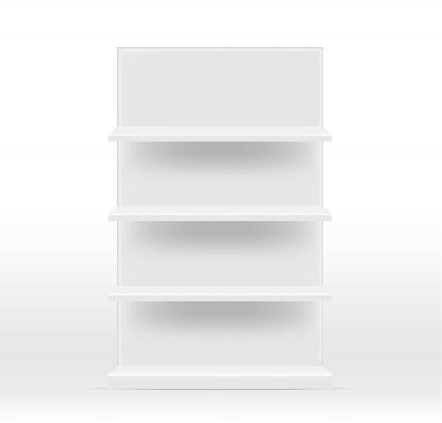 Realistyczne puste półki do wnętrz, aby pokazać produkt