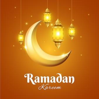 Realistyczne ramadan koncepcja tło