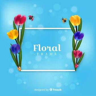Realistyczne ramki kwiatu