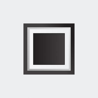 Realistyczne ramki obrazu samodzielnie na białym tle doskonałe dla prezentacji ilustracja wektora