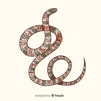 Realistyczne ręcznie rysowane tła węża koralowego