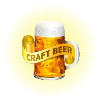 Realistyczne rysowane ikona piwa rzemieślniczego.