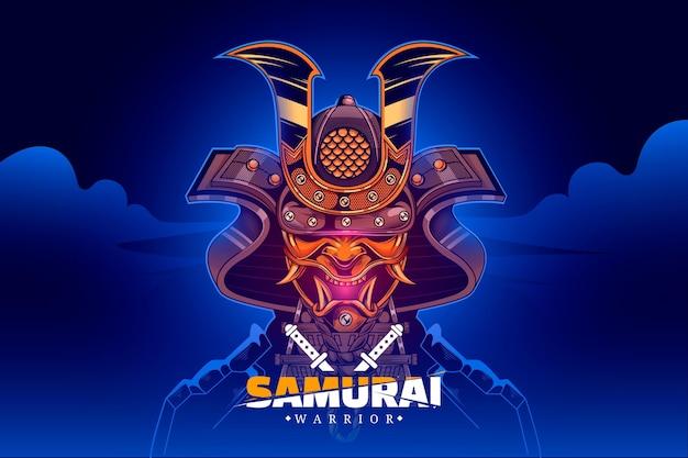 Realistyczne samuraj ilustrowane tło