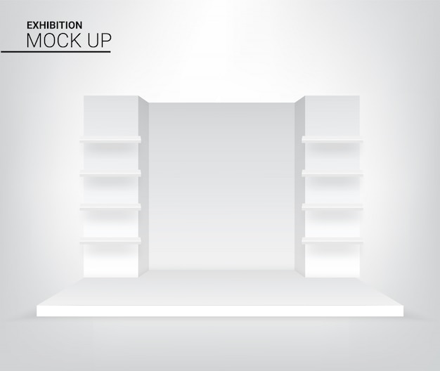 Realistyczne sceny graficzne 3d podium do ilustracji reklamowych, koncertowych lub prezentacyjnych. projekt koncepcyjny imprezy i wystawy