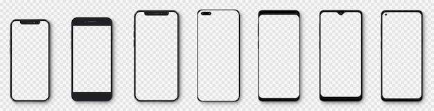 Realistyczne smartfony z przezroczystymi ekranami