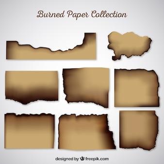 Realistyczne spalone tekstury papieru