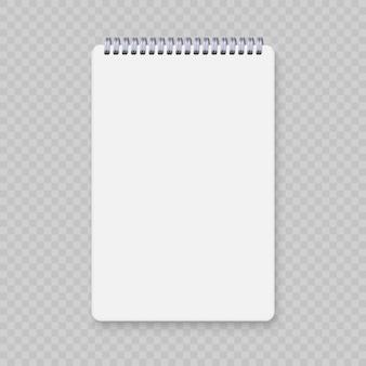 Realistyczne spirala notebooka makieta, szablon zeszyt okładka.
