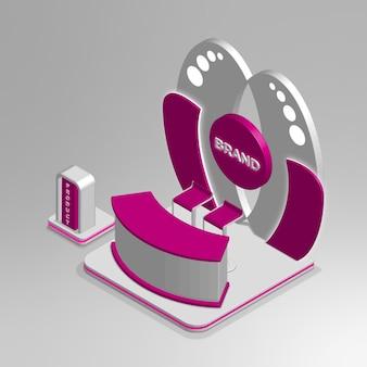 Realistyczne studio nagrań izometrycznych 3d
