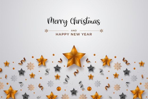 Realistyczne świąteczne dekoracje i wstążki tła dekoracji