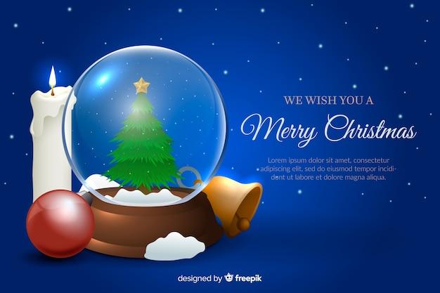 Realistyczne świąteczne tapety z globusem