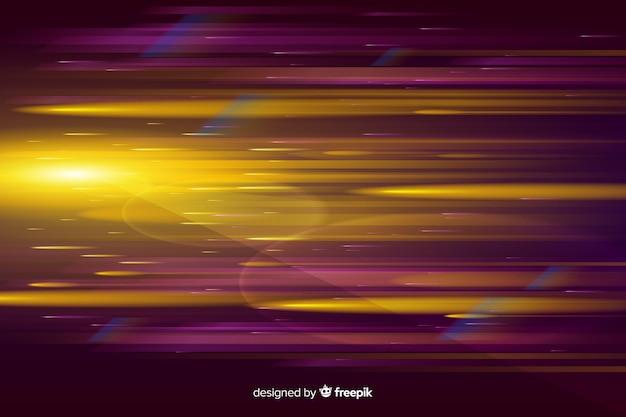 Realistyczne świecące tło ruch światła