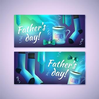 Realistyczne szablon dzień banerów ojców