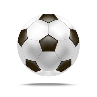Realistyczne szczegółowe piłka nożna gry w piłkę nożną konkurencji sport symbol aktywności zawodowej wypoczynek. ilustracja wektorowa