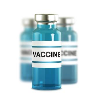 Realistyczne szklane ampułki z lekiem. wstrzyknięcie szczepionki. zakażenie koronawirusem, nowa choroba koronawirusowa,,.
