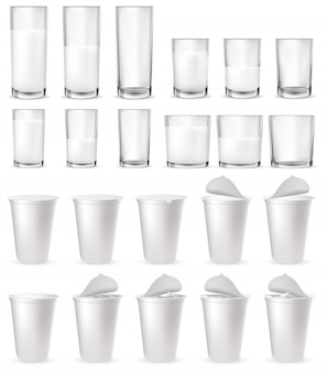 Realistyczne szklane kieliszki