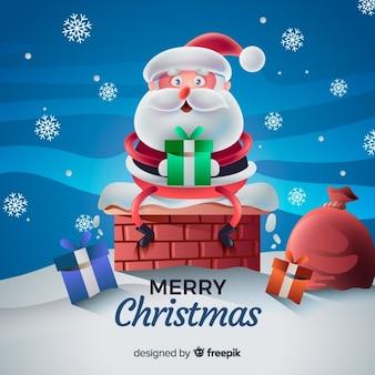 Realistyczne tło Boże Narodzenie