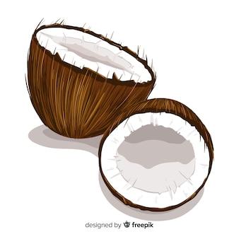 Realistyczne tło kokosowe