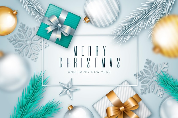 Realistyczne tapety świąteczne z pozdrowieniami