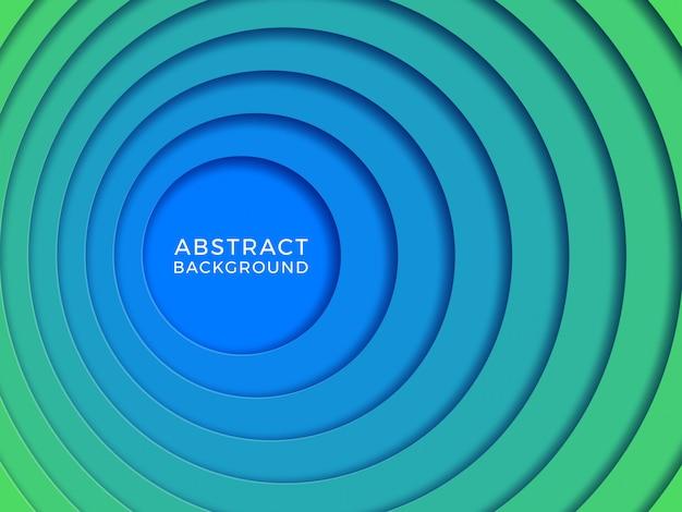 Realistyczne tło 3d z okrągłymi otworami wyciętymi z papieru.