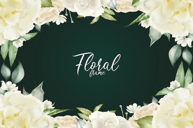 Realistyczne tło akwarela kwiatowy rama