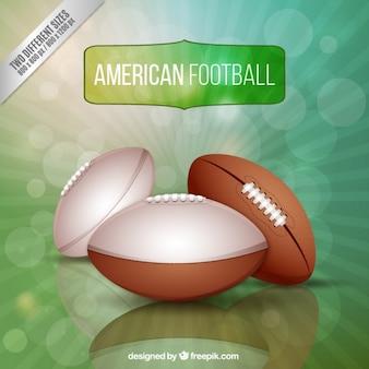 Realistyczne tło amerykański futbol