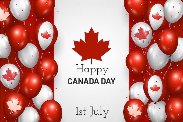 Realistyczne tło balonów kanada dzień