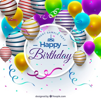 Realistyczne tło balonów urodzinowych