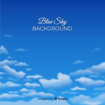 Realistyczne tło błękitnego nieba