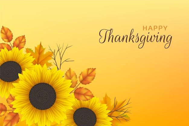 Realistyczne tło dziękczynienia