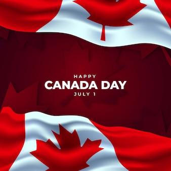Realistyczne tło dzień kanady