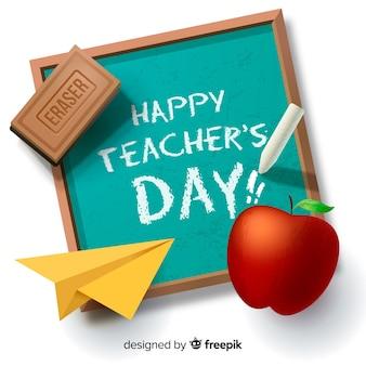 Realistyczne tło dzień nauczycieli