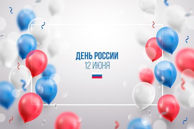 Realistyczne tło dzień rosji z balonów