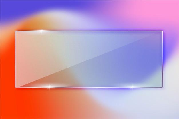 Realistyczne tło efektu szkła