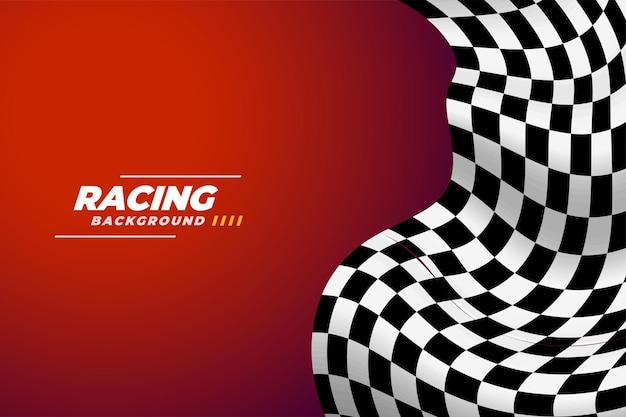 Realistyczne tło flagi wyścigów w szachownicę