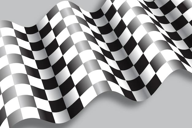 Realistyczne tło flagi wyścigów