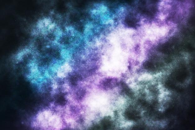 Realistyczne tło galaktyki kosmicznej. pojęcie przestrzeni, mgławicy i kosmosu.
