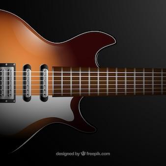 Realistyczne tło gitary elektrycznej