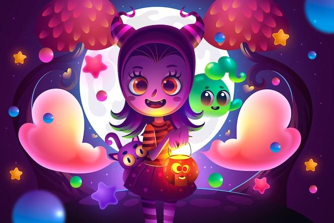 realistyczne tło halloween