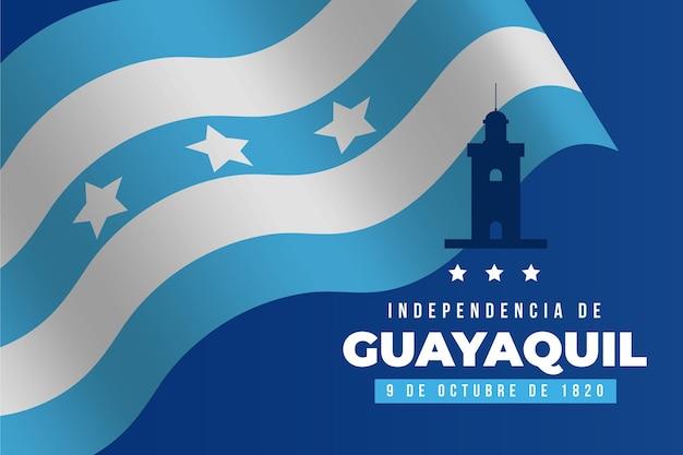 Realistyczne tło independencia de guayaquil