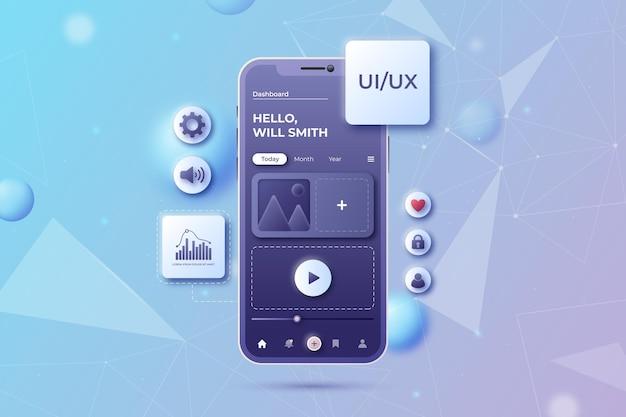 Realistyczne tło interfejsu użytkownika/ux