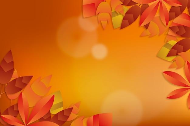 Realistyczne tło jesień