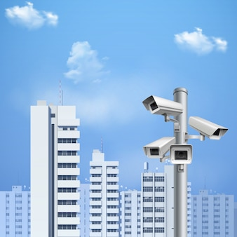 Realistyczne tło kamery nadzoru