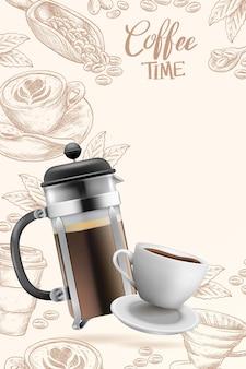 Realistyczne tło kawy