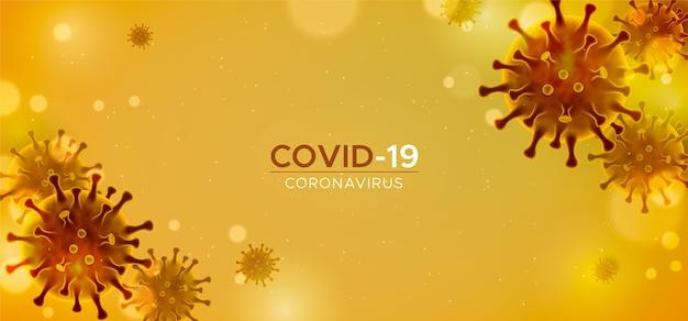 Realistyczne tło koronawirusa